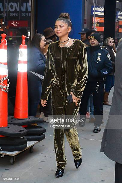 Actress Zendaya is seen outside Good Morning America on December 20 2016 in New York City