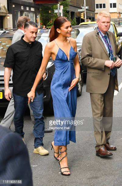 Actress Zendaya is seen outside The Late Show With Stephen Colbert on June 25 2019 in New York City