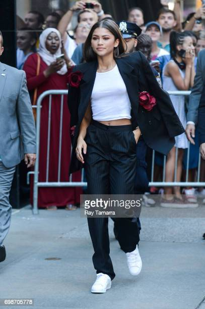 Actress Zendaya leaves the Good Morning America taping at the ABC Times Square Studios on June 20 2017 in New York City