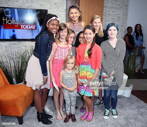 Actress Zendaya poses with fans at Hollywood Today Live at W Hollywood on July 29 2016 in Hollywood California