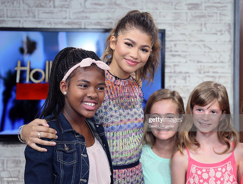Zendaya, Basketball Wives, Shaunie O'Neal And Jackie Christie Visit Hollywood Today Live : News Photo