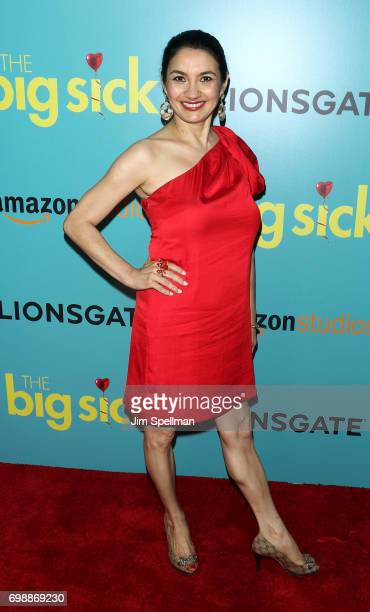 Actress Zenobia Shroff attends The Big Sick New York premiere at The Landmark Sunshine Theater on June 20 2017 in New York City