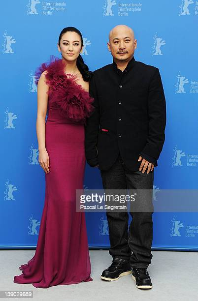 "Actress Zhang Yuqi and director Wang Quan'an attend the ""Bai Lu Yuan"" Photocall during day seven of the 62nd Berlin International Film Festival at..."