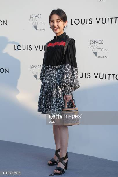 Actress Zhang Zifeng attends Louis Vuitton Coming of Age exhibition on July 12 2019 in Beijing China