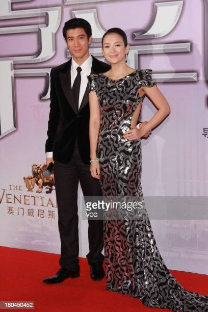 Actress Zhang Ziyi and actor Leehom Wang attend 'My Lucky Star' premiere at the Venetian Macao on September 12 2013 in Macau Macau