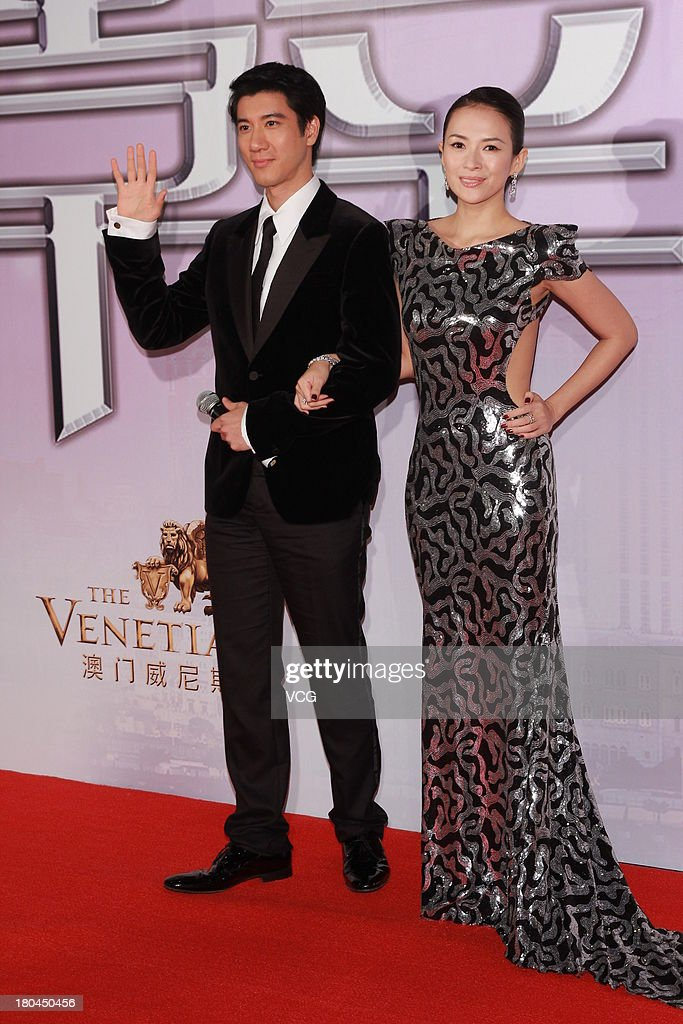 Actress Zhang Ziyi and actor Leehom Wang attend 'My Lucky Star' premiere at the Venetian Macao on September 12, 2013 in Macau, Macau.