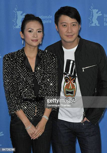 Actress Zhang Ziyi and actor Leon Lai attends the photocall for 'Forever Enthralled' as part of the 59th Berlin Film Festival at the Grand Hyatt...