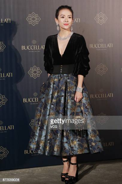 Actress Zhang Ziyi attends a Buccellati activity on November 9 2017 in Shanghai China
