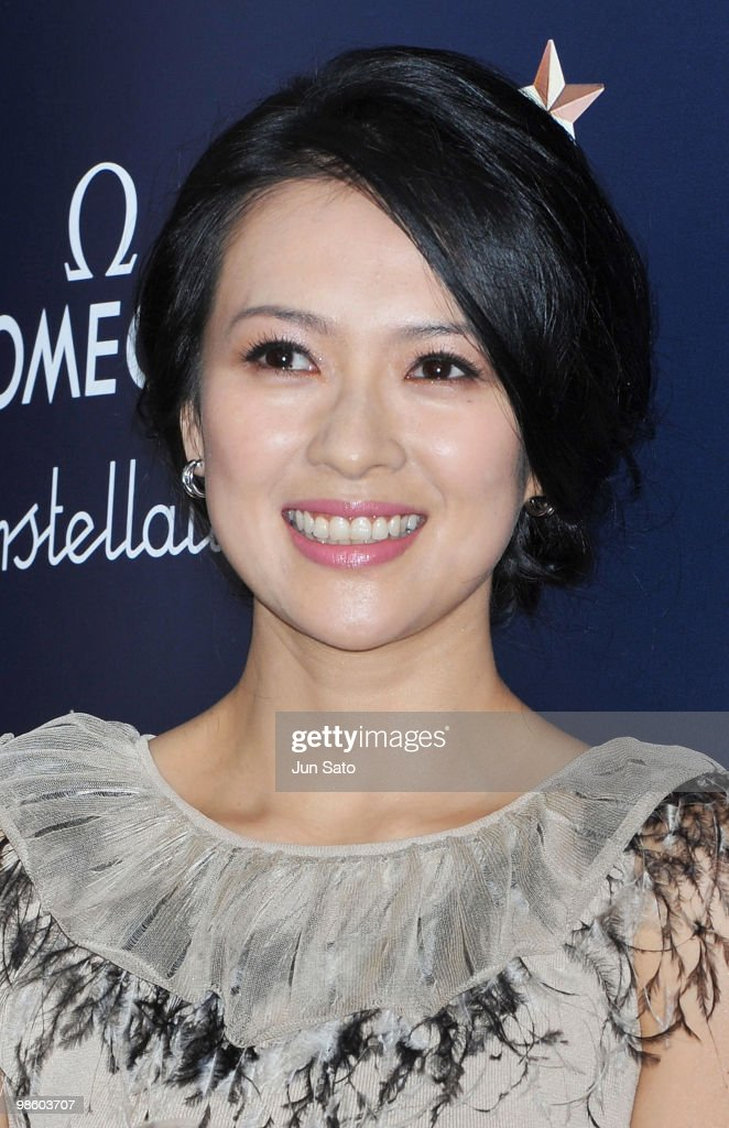 Actress Zhang Ziyi attends a press conference for the Omega Constellation Art Exhibition at Nicolas G. Hayek Center on April 22, 2010 in Tokyo, Japan.