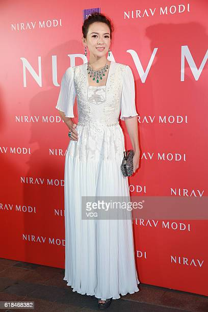 Actress Zhang Ziyi attends an opening ceremony of Nirav Modi's flagship store on October 26 2016 in Hong Kong China