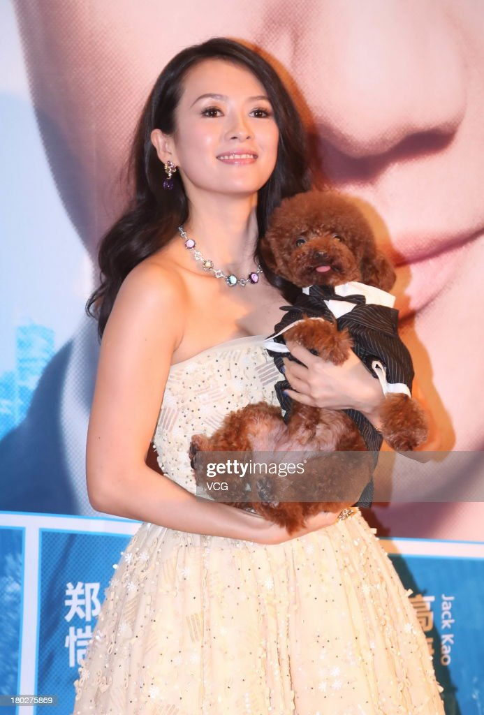Actress Zhang Ziyi attends 'My Lucky Star' premiere at Saga Cinema on September 10, 2013 in Beijing, China.