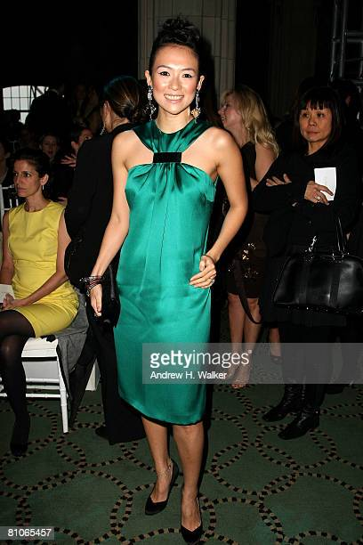 Actress Zhang Ziyi attends the Christian Dior Cruise 2009 Collection at Gustavino's in New York City