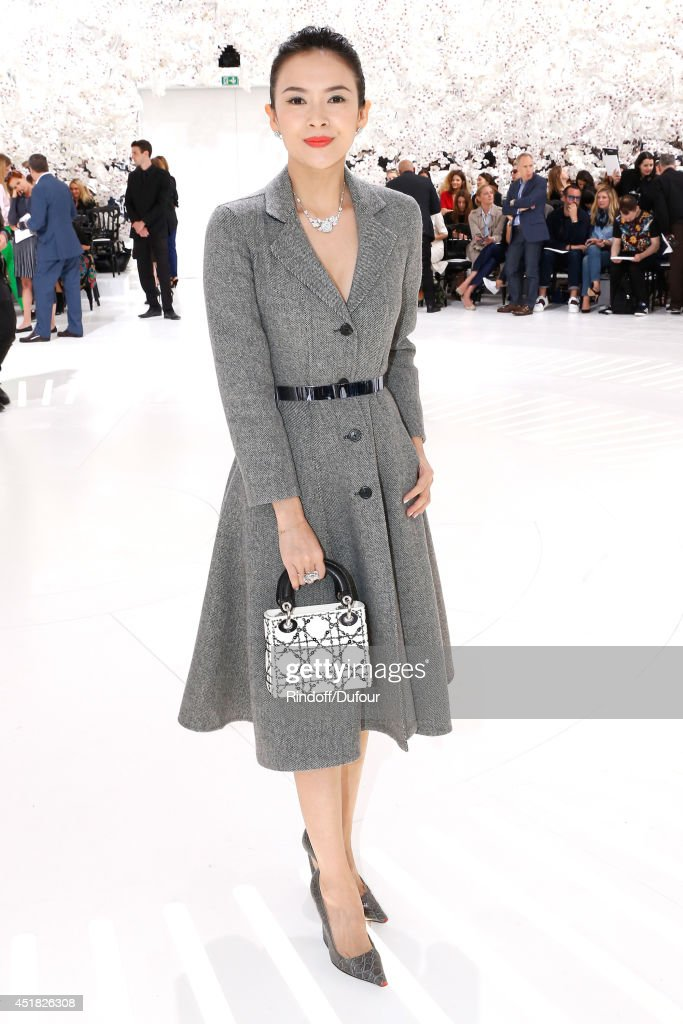 Actress Zhang Ziyi attends the Christian Dior show as part of Paris Fashion Week - Haute Couture Fall/Winter 2014-2015. Held at Musee Rodin on July 7, 2014 in Paris, France.