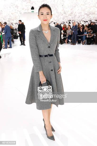 Actress Zhang Ziyi attends the Christian Dior show as part of Paris Fashion Week Haute Couture Fall/Winter 20142015 Held at Musee Rodin on July 7...