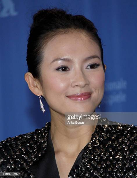 Actress Zhang Ziyi attends the Forever Enthralled photocall during the 59th Berlin International Film Festival at the Grand Hyatt Hotel on February...