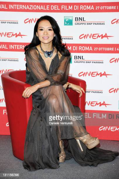 Actress Zhang Ziyi attends the 'Love For Life' Photocall during the 6th International Rome Film Festival at Auditorium Parco Della Musica on November...