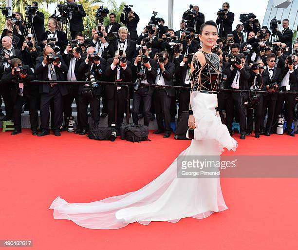 Actress Zhang Ziyi attends the opening ceremony and 'Grace of Monaco' premiere at the 67th Annual Cannes Film Festival on May 14 2014 in Cannes France