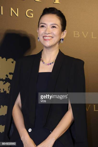 Actress Zhang Ziyi attends the opening ceremony of Bvlgari Hotel Beijing on September 27 2017 in Beijing China