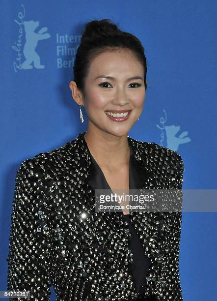 Actress Zhang Ziyi attends the photocall for 'Forever Enthralled' as part of the 59th Berlin Film Festival at the Grand Hyatt Hotel on February 10...