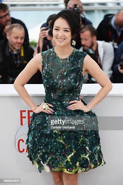 Actress Zhang Ziyi attends the photocall for the Jury for the 'Un Certain Regard' competition during The 66th Annual Cannes Film Festival at Palais...