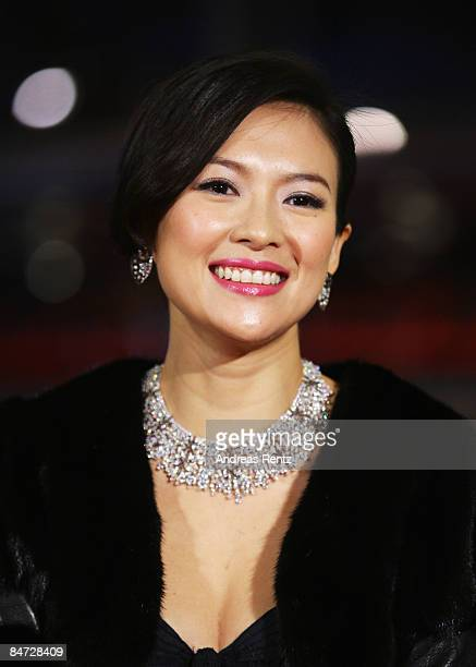 Actress Zhang Ziyi attends the premiere for 'Forever Enthralled' as part of the 59th Berlin Film Festival at the Grand Hyatt Hotel on February 10...