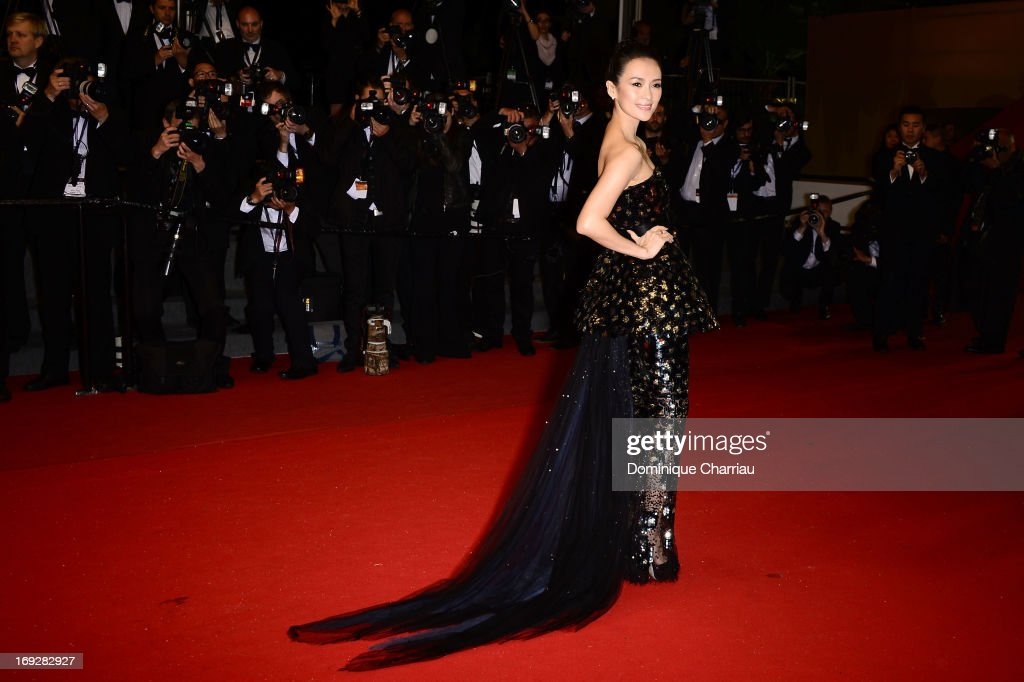 Actress Zhang Ziyi attends the Premiere of 'Only God Forgives' at The 66th Annual Cannes Film Festival on May 22, 2013 in Cannes, France.