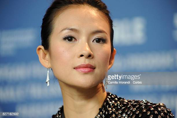 Actress Zhang Ziyi attends the press conference of Forever Enthralled during the 59th annual Berlin Film Festival