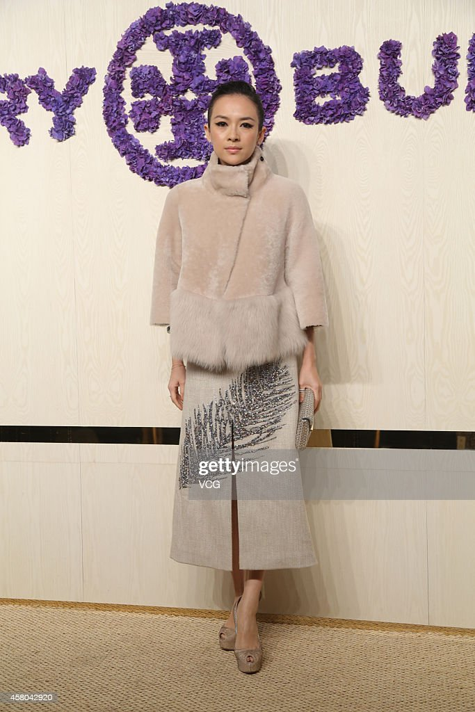Actress Zhang Ziyi attends Tory Burch flagship store opening ceremony at Kerry Center on October 29, 2014 in Shanghai, China.