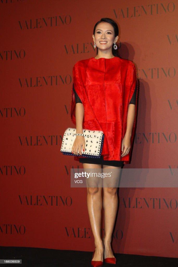 Actress Zhang Ziyi attends Valentino Fashion Show at Shanghai Port International Cruise Terminal on November 14, 2013 in Shanghai, China.