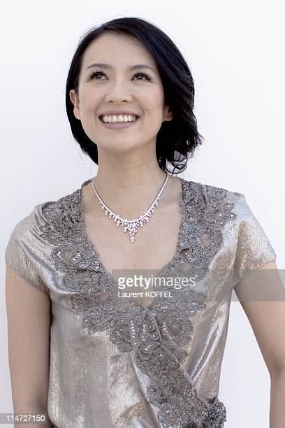 Actress Zhang Ziyi poses at a photocall during the 64th Annual Cannes Film Festival at Majestic Hotel on May 20 2011 in Cannes France