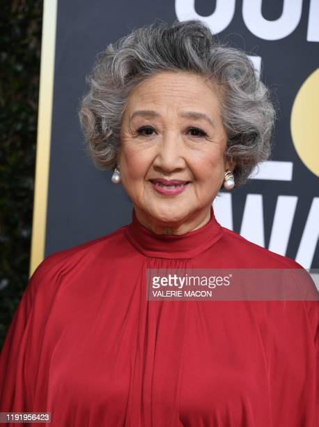 Actress Zhao Shuzhen arrives for the 77th annual Golden Globe Awards on January 5 at The Beverly Hilton hotel in Beverly Hills California