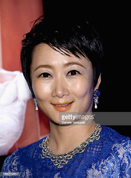 Actress Zhao Tao attends the 'Cleopatra' cocktail hosted by Bulgari during The 66th Annual Cannes Film Festival at JW Marriott on May 21, 2013 in...