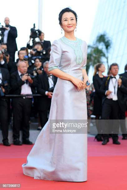 """Actress Zhao Tao attends the screening of """"Ash Is The Purest White """" during the 71st annual Cannes Film Festival at Palais des Festivals on May 11,..."""