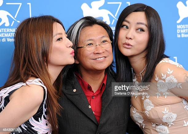 Actress Zhao Wei director Peter Chan and actress Lei Hao attend 'Dearest' Photocall during the 71st Venice Film Festival at Palazzo Del Casino on...