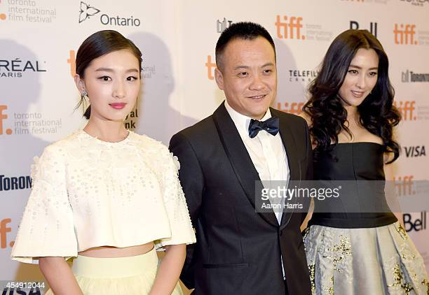 Actress Zhou Dongyu director Ning Hao and actress Ma Su attend the Breakup Buddies premiere during the 2014 Toronto International Film Festival at...