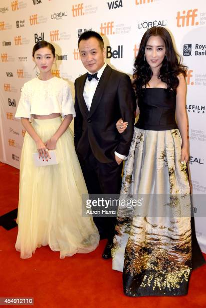"Actress Zhou Dongyu, director Ning Hao and actress Ma Su attend the ""Breakup Buddies"" premiere during the 2014 Toronto International Film Festival at..."