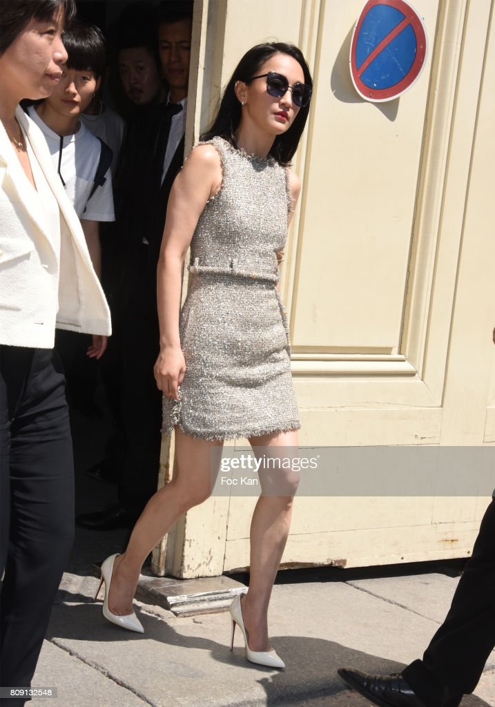 Actress Zhou Xun attends the Chanel Haute Couture Fall/Winter 2017-2018 show as part of Paris Fashion Week on July 4, 2017 in Paris, France.