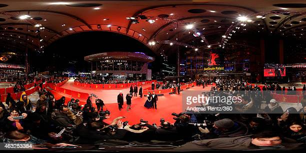 Actress Zhou Yun and director Jiang Wen attend the 'Gone with the Bullets' premiere during the 65th Berlinale International Film Festival at...