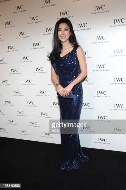 Actress Zhu Zhu attends IWC flagship store opening ceremony at Parkview Green Shopping Mall on November 22 2012 in Beijing China