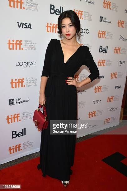 Actress Zhu Zhu attends the Cloud Atlas premiere during the 2012 Toronto International Film Festival at the Princess of Wales Theatre on September 8...