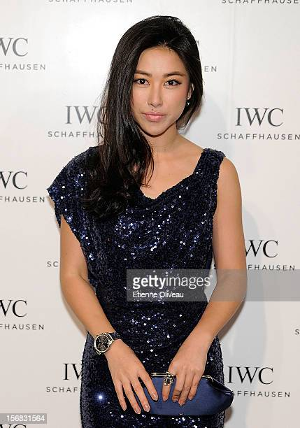 Actress Zhu Zhu poses for photographs during the IWC Flagship Boutique Opening on November 22 2012 in Beijing China