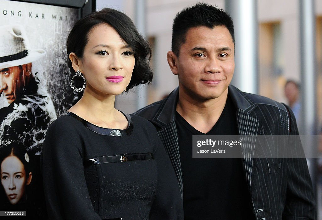 Actress Ziyi Zhang and actor Cung Le attend the premiere of 'The Grandmaster' at ArcLight Cinemas on August 22, 2013 in Hollywood, California.
