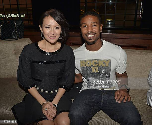 Actress Ziyi Zhang and actor Michael B Jordan attend the afterparty following a screening of The Weinstein Company And Annapurna Pictures' 'The...