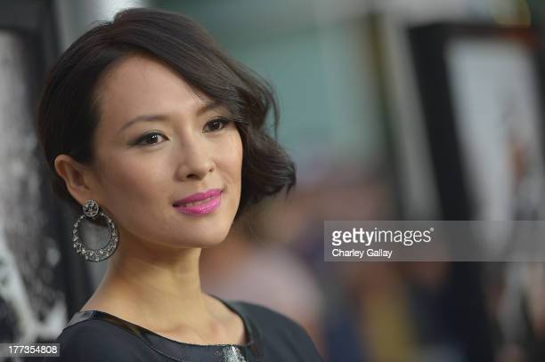 Actress Ziyi Zhang arrives at a screening of The Weinstein Company And Annapurna Pictures' 'The Grandmaster' at the Arclight Theatre on August 22...