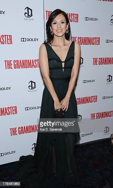 Actress Ziyi Zhang attends 'The Grandmaster' New York Screening at Regal EWalk Stadium 13 on August 13 2013 in New York City