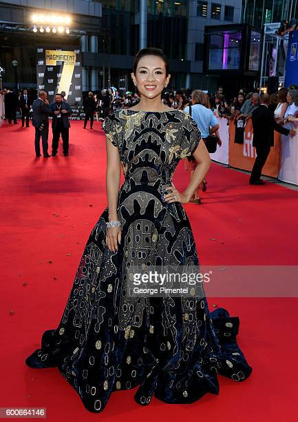 Actress Ziyi Zhang attends 'The Magnificent Seven' premiere during the 2016 Toronto International Film Festival at Roy Thomson Hall on September 8...