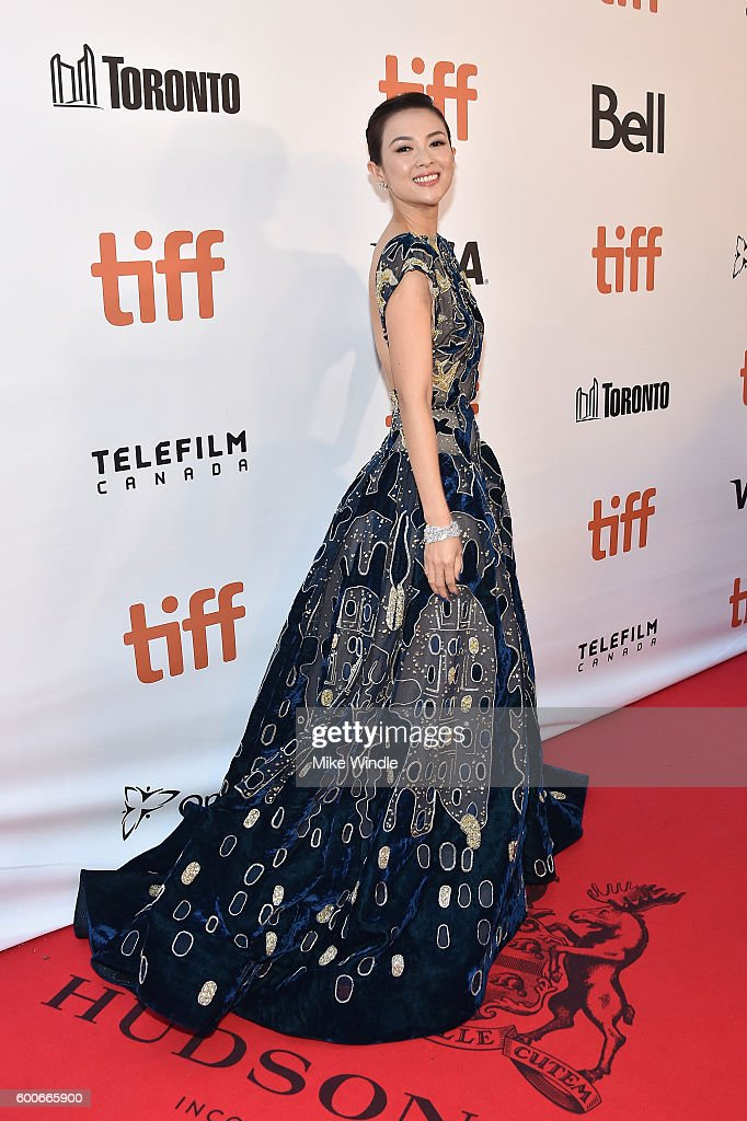 Actress Ziyi Zhang attends 'The Magnificent Seven' premiere during the 2016 Toronto International Film Festival at Roy Thomson Hall on September 8, 2016 in Toronto, Canada.