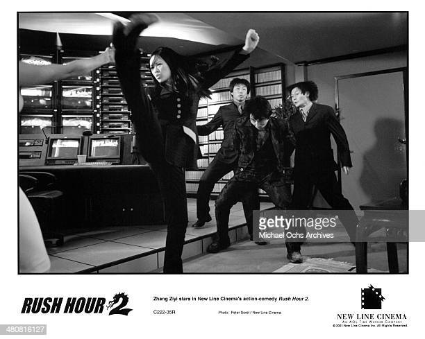 Actress Ziyi Zhang in a scene from the New Line Cinema movie 'Rush Hour 2' circa 2001