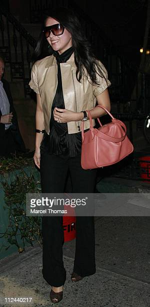 Actress Ziyi Zhang visits Ye Waverly Inn restaurant on April 7 2008 in New York City