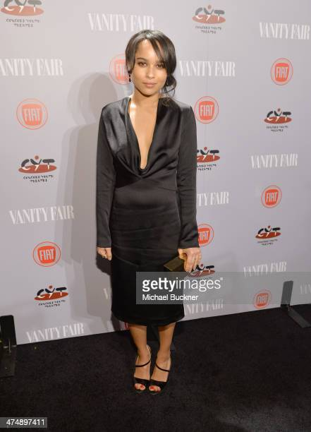 Actress Zoë Kravitz attends Vanity Fair and FIAT celebration of Young Hollywood during Vanity Fair Campaign Hollywood at No Vacancy on February 25...